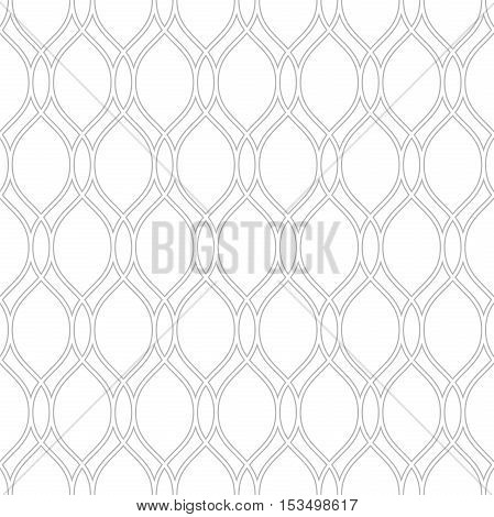 Seamless ornament. Modern geometric pattern with repeating silver wavy lines