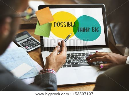 Possible Think Big Leadership Ideas Motivation Concept