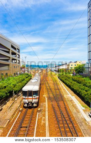 Oncoming Train Takayama Station City Center V