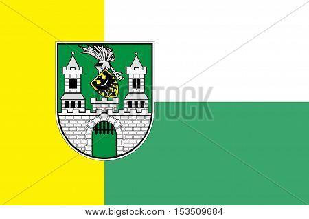 Flag of Zielona Gora city in Lubusz Voivodeship in western Poland