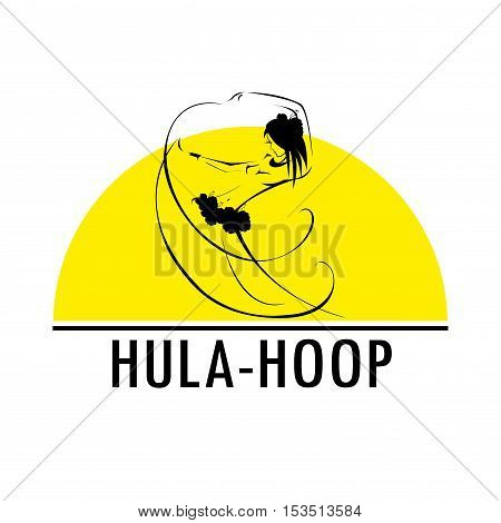 Hawaii hula vector logo design template. Beautiful Dancer icon.