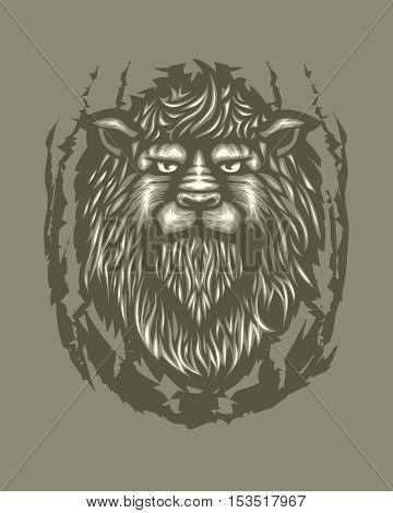 Lion Tribal Feline Africa Tattoo Wild Animal
