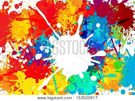 abstract splatter multi color background. illustration vector design