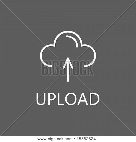 Upload, linear icon. Web upload line icon. High quality outline pictigram for design website or mobile app. Vector thin line illustration of upload files.