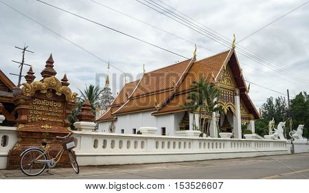 Popular temple is in north of thailand
