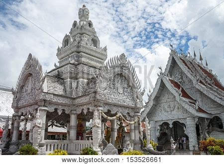 White temple is in north of thailand