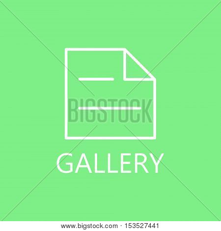 Real estate contract line icon. Docemunt line icon. High quality outline pictigram for design website or mobile app. Vector thin line illustration of document. White symbol on green background