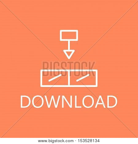 Download, linear icon. Web download line icon. High quality outline pictigram for design website or mobile app. Vector thin line illustration of download files.