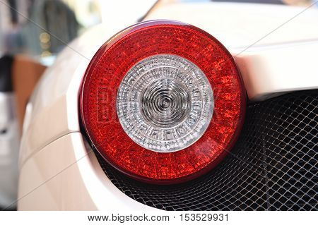White Supercar Ferrari 458 Spider