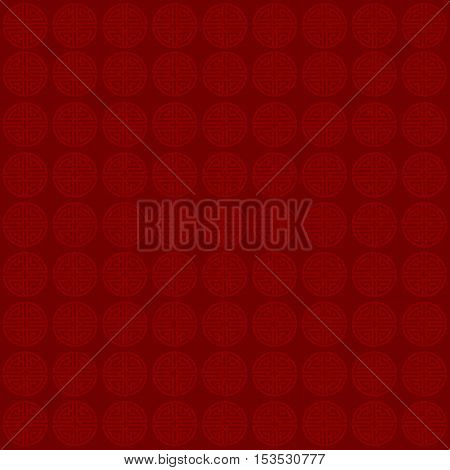 Chinese New Year. Decorative Wine-colored background with Chinese symbol- Vector. Pattern can be used for background.