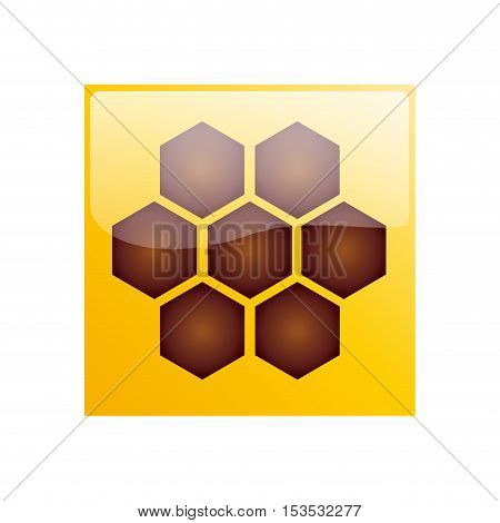 Vector sign hive & honey isolated ilustration