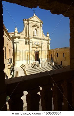 This Cathedral lies inside the walls of the Citadel of Victoria in Gozo one of the Maltese islands