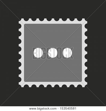 Isolated Mail Stamp Icon With  An Ellipsis Orthographic Sign