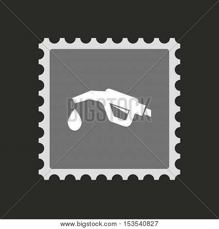 Isolated Mail Stamp Icon With  A Gas Hose Icon