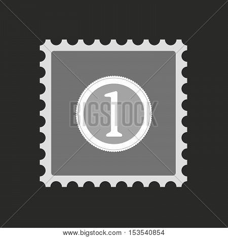 Isolated Mail Stamp Icon With  A Coin Icon