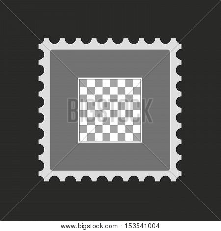 Isolated Mail Stamp Icon With  A Chess Board