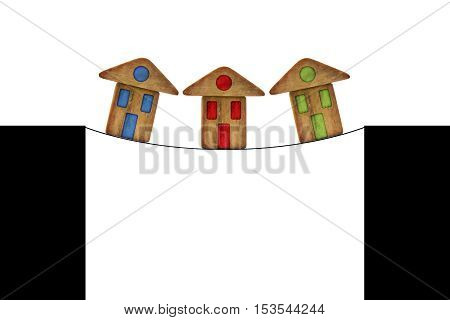 Real estate market crisis - concept image