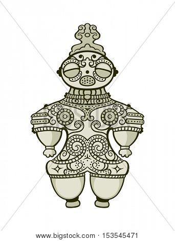 Japanese dogu (earthenware figurine) of Jomon period