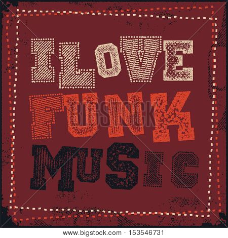 funk music poster vector illustration