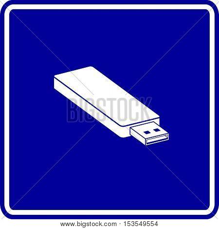 usb flash drive sign