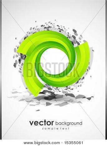 Abstrato com forma verde