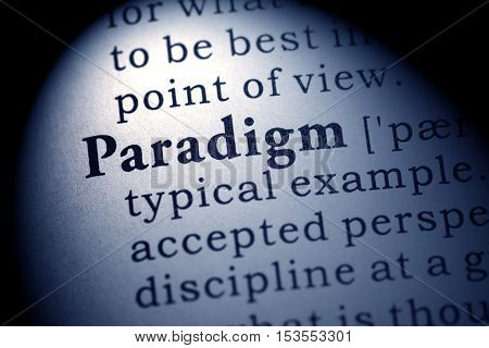 Fake Dictionary Dictionary definition of the word paradigm.