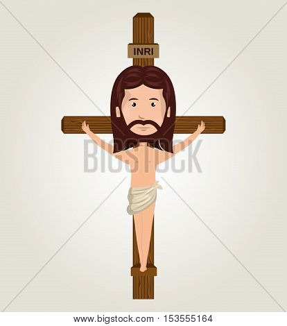 Jesus christ crucifix desing isolated vector illustration eps 10