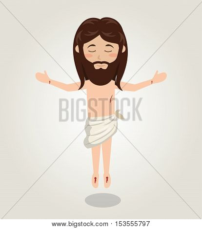 Jesus christ ascension design isolated vector illustration eps 10