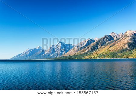 Jackson Lake And Teton Range