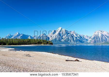 Beach And Teton Range