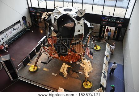 WASHINGTON DC - AUG 10, 2010: Replica of Apollo Lunar Module in Smithsonian National Air and Space Museum in Washington DC, USA.