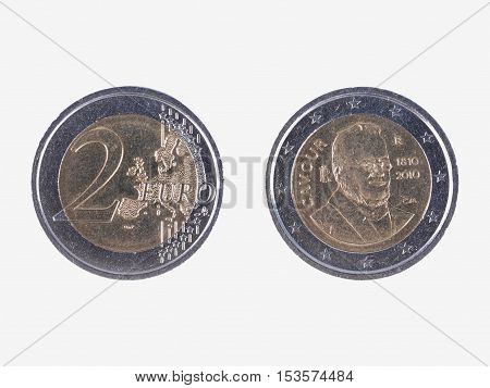 Camillo Benso Commemorative 2 Eur Coin