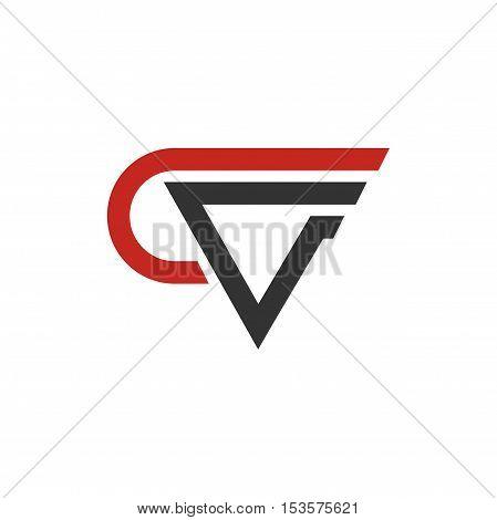 CV letter initial logo design, CV letter