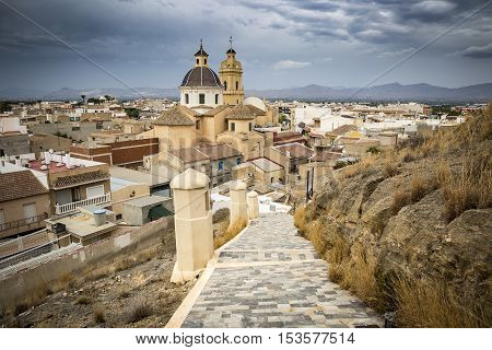 a view over Cox town in Vega Baja Alicante province, Comunidad Valenciana, Spain
