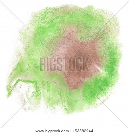 abstract watercolor splash. green watercolor drop isolated blot for your design