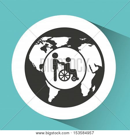 symbol icon disabled wheel chair vector illustration eps 10