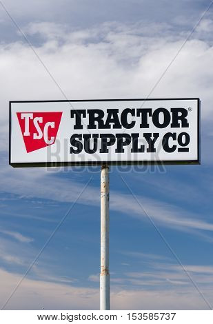 Tractor Supply Company Exterior Sign And Logo.