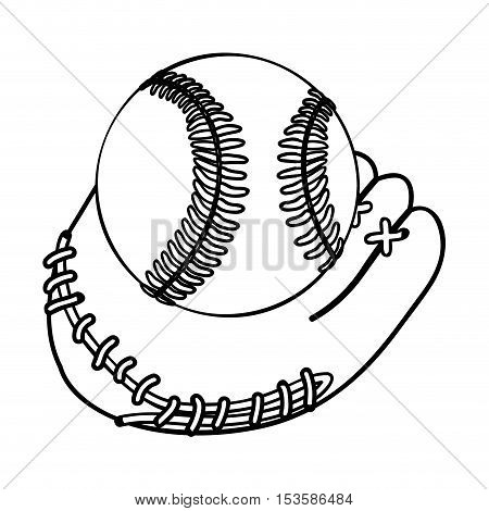 baseball mitt and ball icon image vector illustration design