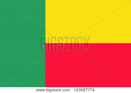 Benin flag, Benin national flag illustration symbol.