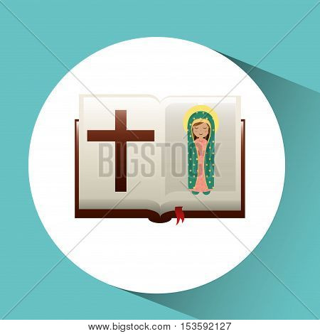 virgin mary guadalupe blessed bible design vector illustration eps 10