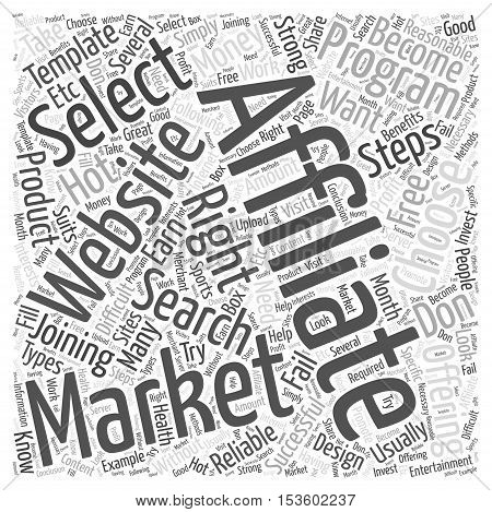 what to do after joining an affiliate program word cloud concept
