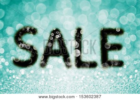 Teal turquoise and aqua mint color black sale offer glitter sparkle confetti background texture