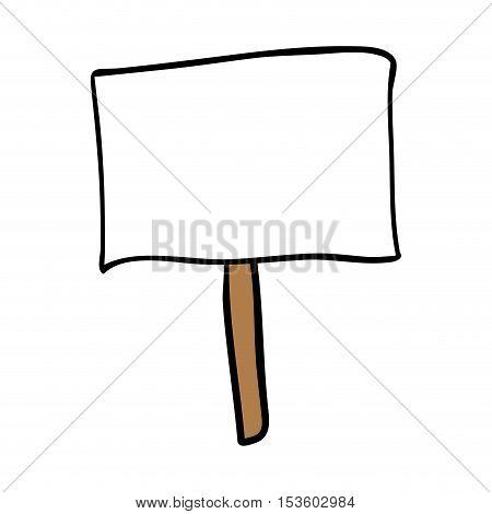 protest sign cartoon icon image vector illustration design