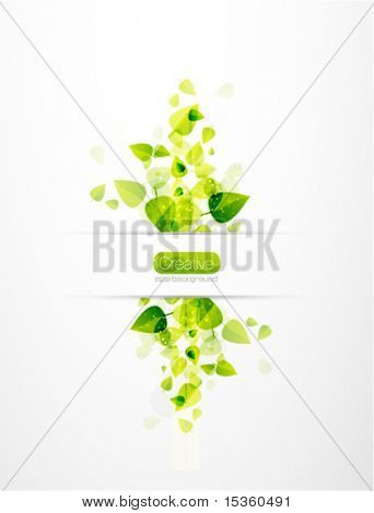 vector nature background. Abstract fly leaves background