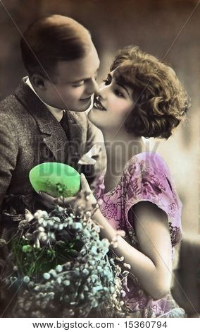 Vintage Easter lovers
