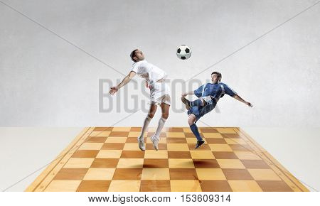 Football game strategy . Mixed media