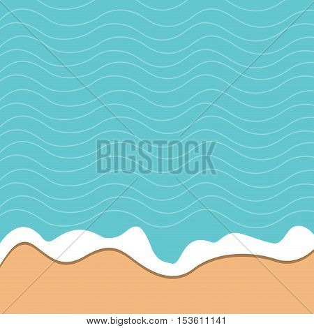 vector abstract  illustration summer, sand and sea background