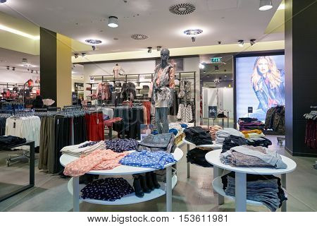 DUBAI, UAE - 15 OCTOBER, 2014: inside of a store at the Dubai Mall. The Dubai Mall is a shopping mall in Dubai, United Arab Emirates.