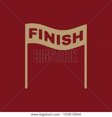 The finish icon. Finish symbol. Flat Vector illustration