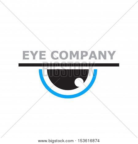 Vector logo photographer eye in abstract shape